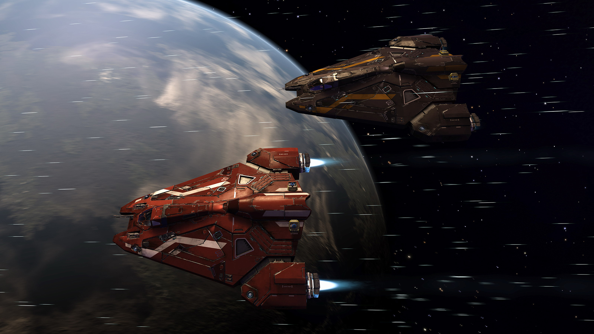 Elite Dangerous Screencap of Viper wing